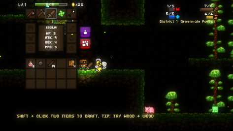 This is the inventory screen. That bee killed me one millisecond after this picture was taken.