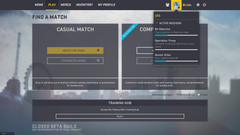 There's a nice little drop-down menu showing you your progress on objectives.